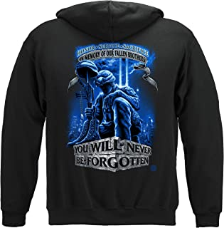 Army | Never Forget Fallen Soldier Hooded Sweat Shirt ADD-MM110SWM