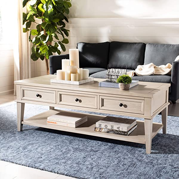 Safavieh American Homes Collection Manelin White Washed Coffee Table