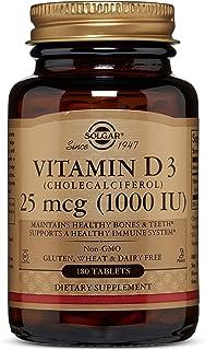 Solgar. Natural Vitamin D3. 1000 IU. 180 Tablets