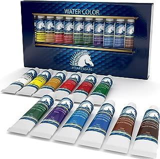 Watercolor Paint Set - Artist Quality Paints - 12 x 12ml Vibrant Colors - Rich Pigments - Professional Supplies by MyArtscape™