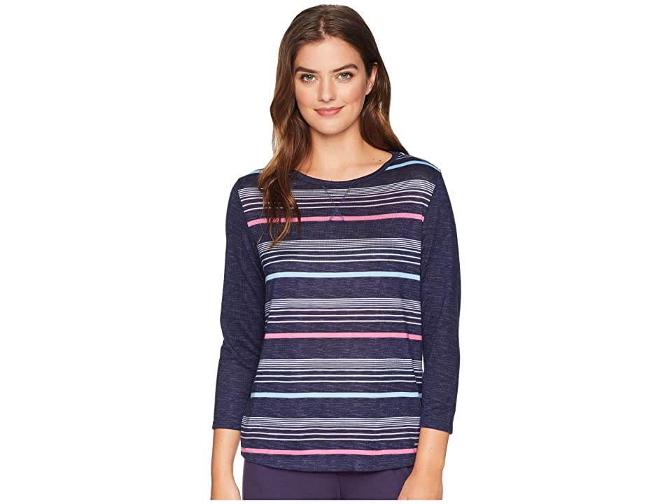 Nautica Striped Pullover Top (Fall Lines Navy) Women