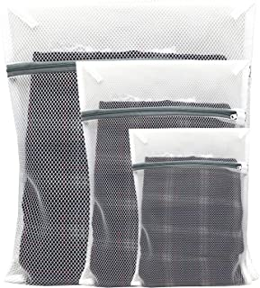 RayTour 3 Pieces Mesh Net Laundry Bags for Washing Machine Cloth Protecting Cloth Washing Net for Laundry Blouse Underwear...