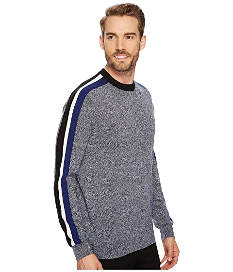 Mouline amp; Sleeve with Wool Lacoste Sweater Stripes Blend Jersey On Jacquard dqpwaf