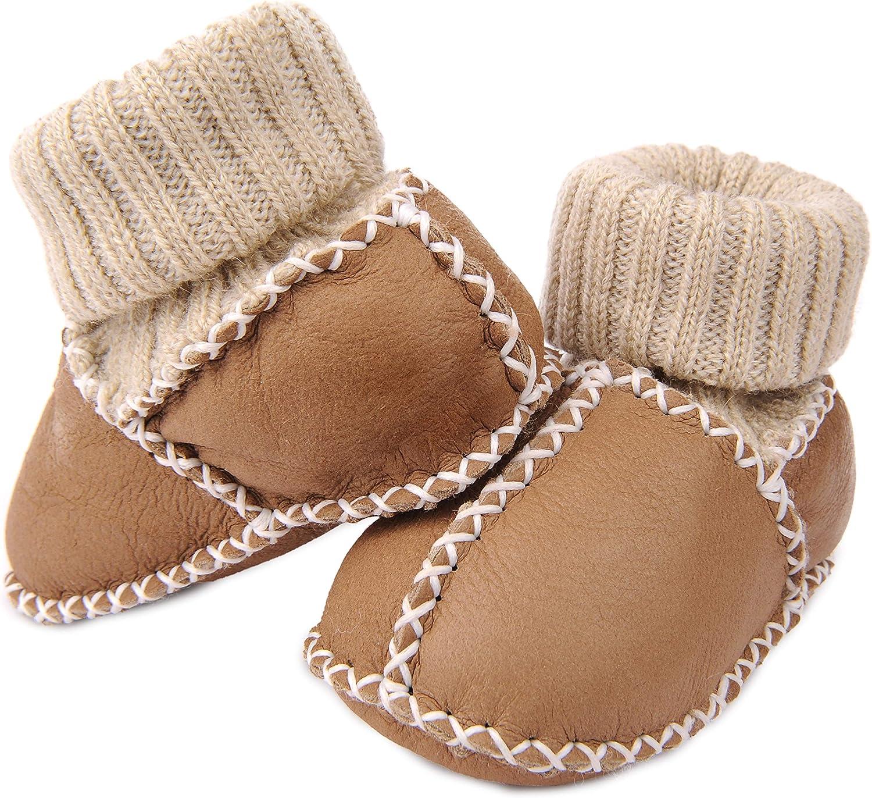Directly managed store Handmade Bargain Sheepskin Genuine Leather Soft Unis Boy Sole Girl