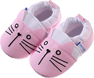 Baby Boys Girls Cute Cartoon Infant Warm Cotton Shoes Anti-Slip Soft Sole First Walkers Shoes - - 12-18 Months