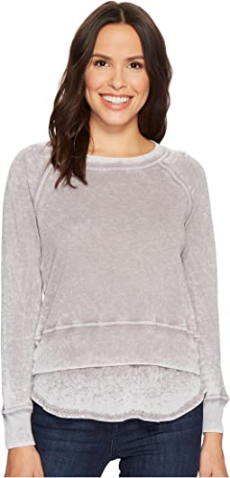 Long Sleeve Crew Double Layer Top