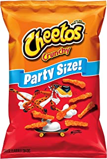 Cheetos, Crunchy  Cheese Flavored Snacks Party Size, 17.5 oz