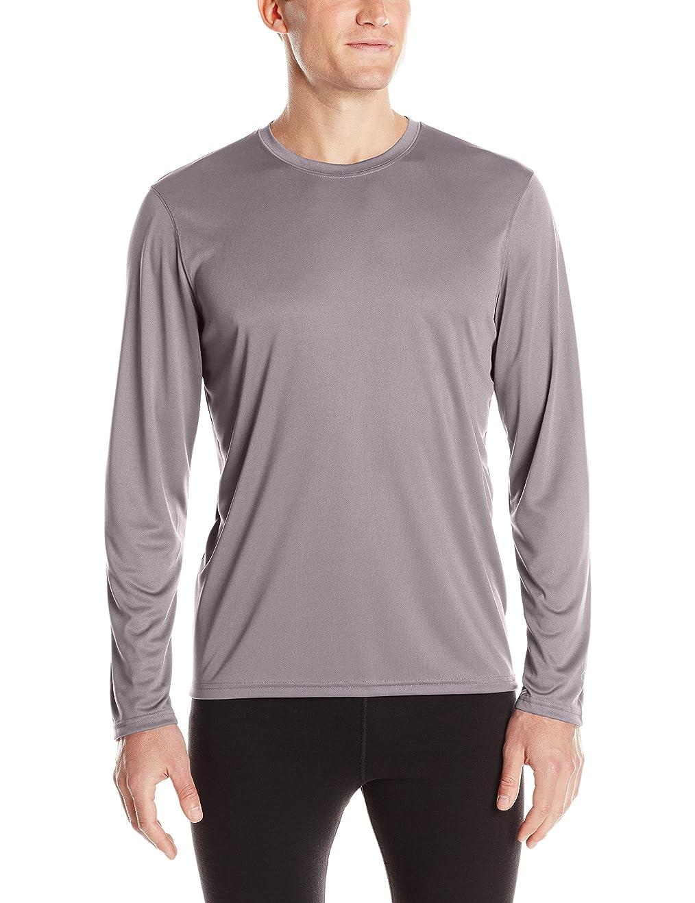 サイズ動ジーンズチャンピオン メンズ 長袖 ダブル ドライ パフォーマンス Tシャツ US サイズ: XXX-Large カラー: グレイ