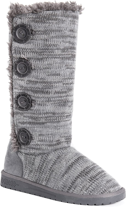 Muk Luks Women's Liza Boots-Grey Fashion