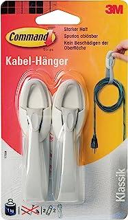 Command Kabelhanger - 2 hangers, 2 strips, sterke grip (1 kg)