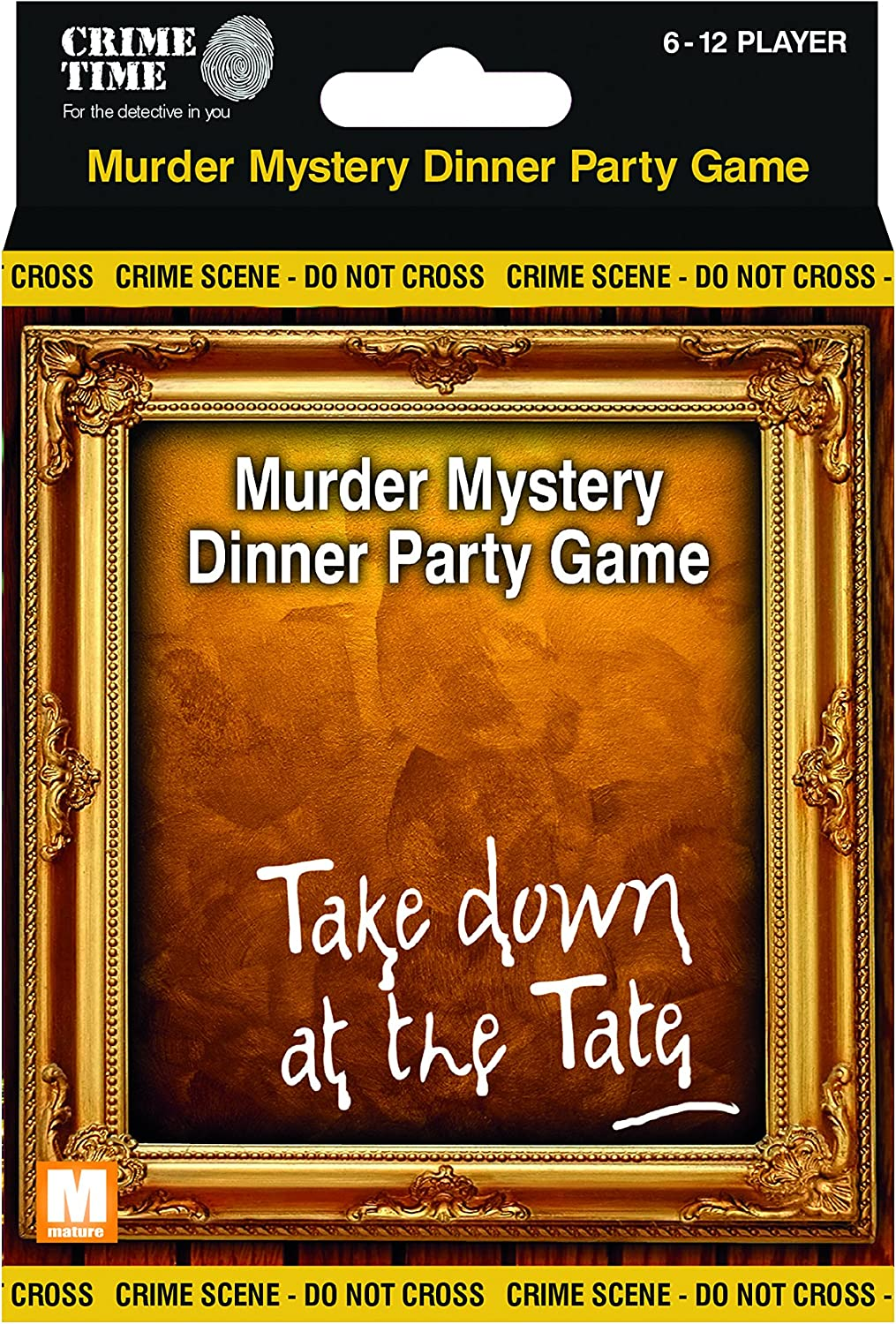 Take Down at the Tate  Murder mystery gift box  downloadable game for 6,8,10 or 12 players