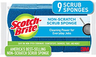 Scotch-Brite Non-Scratch Scrub Sponges, For Washing Dishes and Kitchen Use, 9 Scrub Sponges