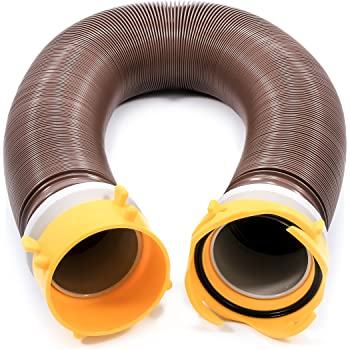 Camco 39639 Revolution 10' Sewer Hose Extension - Heavy Duty Design with Pre- Attached Swivel Lug and Bayonet Fittings, Easy to Use and Compresses for Simple Storage
