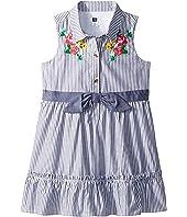 Blue Stripe Shirtdress (Toddler/Little Kids/Big Kids)
