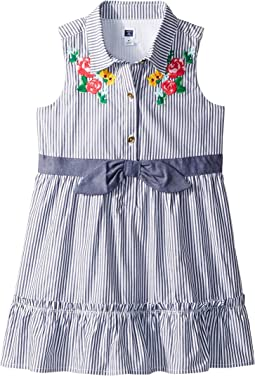 Blue Stripe Shirtdress (Toddler/Little Kids/Big Kids)