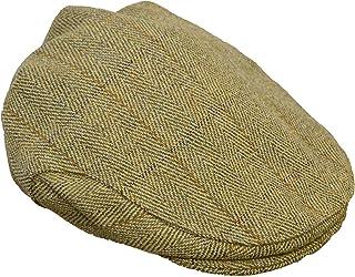 Walker & Hawkes - Uni-Sex Derby Tweed Flat Cap Hunting Shooting Countrywear Hat - Light Sage