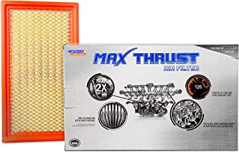 Spearhead MAX THRUST Performance Engine Air Filter For Low & High Mileage Vehicles - Increases Power & Improves Acceleration (MT-242)