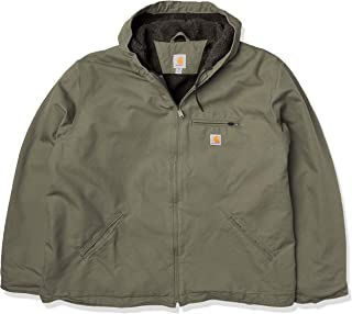 Carhartt Men's Relaxed Fit Washed Duck Sherpa-Lined Jacket