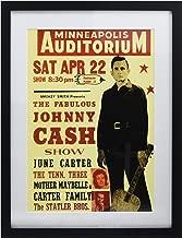 Music Concert AD Johnny Cash CER Man Black Art Frame Print Picture F12X581