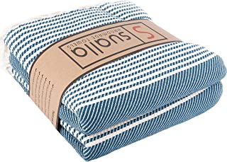 Sualla 100% Cotton - Marmaris Turkish Towel - Dark Blue (Set of 2)