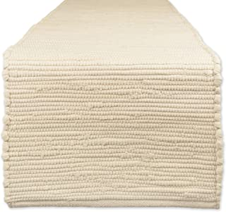 """DII 100% Cotton Everyday Machine Washable Chindi Rag Placemat Table Runner 14""""x72"""" CAMZ36013"""