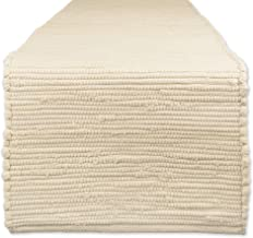 "DII Cotton Everyday Machine Washable Chindi Rag Table Runner, 14 X 72"", Natural"