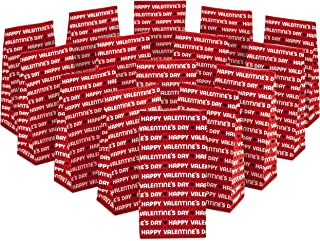 Hallmark Valentines Party Favor and Wrapped Treat Bags (15 Ct, Red, Happy Valentine's Day) for Classroom Parties, Sack Lun...