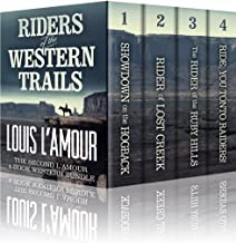 RIDERS OF THE WESTERN TRAILS: : The Second Louis L'Amour 4 Book Western Bundle - Showdown On The Hogback, Rider Of Lost Cr...