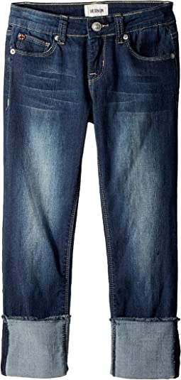 Hudson Kids Skinny Roll Cuff Crop in Oxford Blue (Big Kids)
