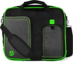"""Vangoddy DF_000001072 Pindar Universal Laptop/Tablet Messenger Bag with Neoprene sleeve and Headphone Splitter Bundle Package, 10-12"""", Neon Green"""