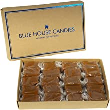 Blue House Soft and Chewy Handcrafted Gourmet Caramel Candies, Gift Boxed (Sea Salt Caramels)