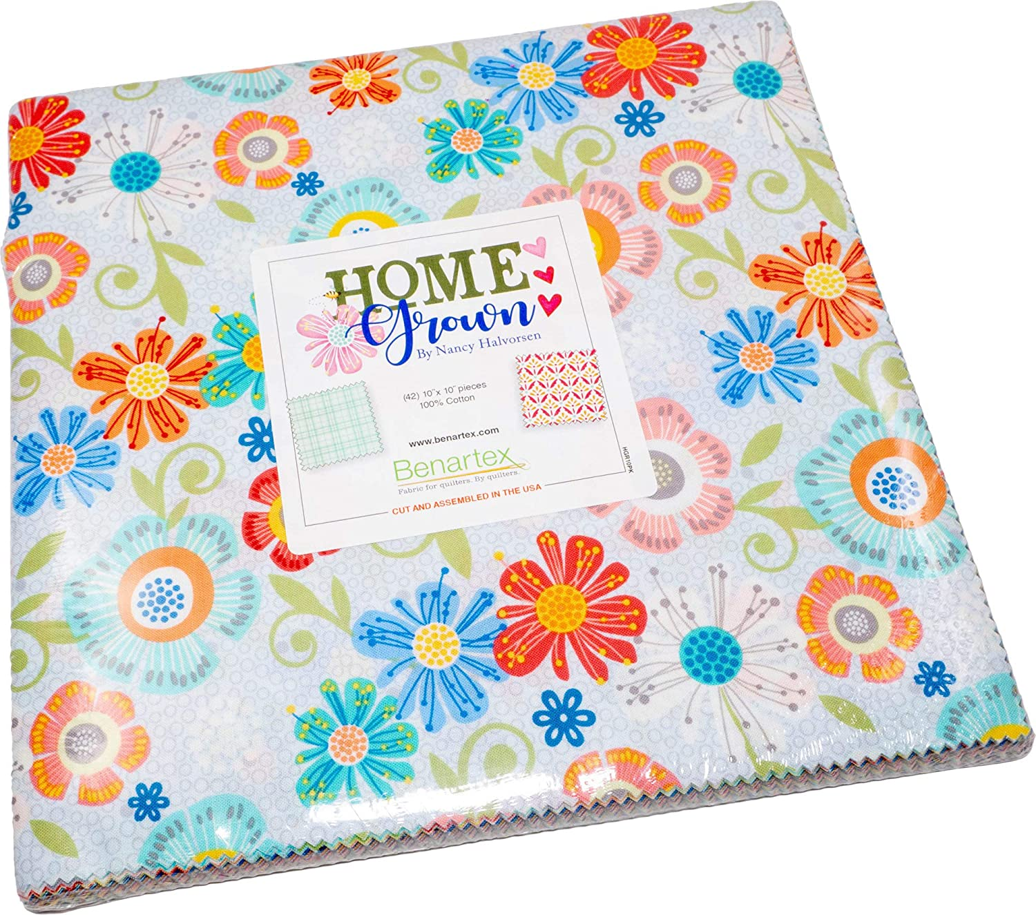 Nancy Halverson Home Max 47% OFF Grown 10X10 Pack 42 Popular product Layer 10-inch Squares C