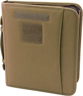 Field Ready Coyote Military Zippered 3 Ring Binder And Padfolio