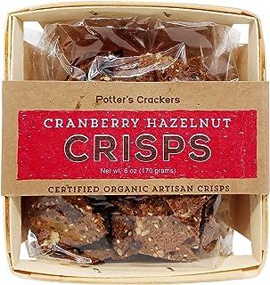 Potters Crackers, Crisp Cranbery Hazlnut, 6 Ounce