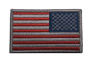 American Tactical Supply Co. Reverse American Flag Patch, Silver