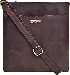 Leather Crossbody Bags for Women - Shoulder Purse with Strap Crossover Side Womens Bag with Zipper