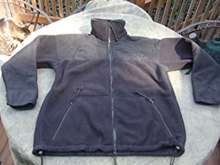 US Military Men's PolarTec 300 Fleece Jacket, Small, Black