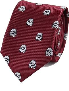 Microfiber Jacquard Stormtrooper Helmet Pattern Necktie Star Wars Movie Theme tie
