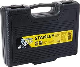 """Stanley, Jogo de Soquetes 1/2"""" com 22 Peças, Amarelo/Preto, 8 a 22mm"""