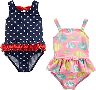 Baby and Toddler Girls' 2-Pack One-Piece Swimsuits