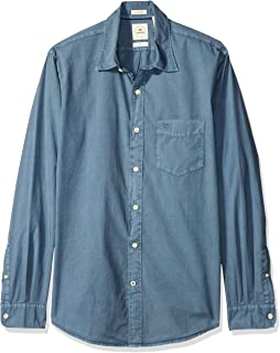 Dockers Camisa casual para Hombre, Azul