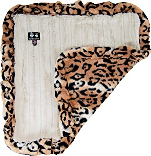 """product image for BESSIE AND BARNIE Natural Beauty/ Chepard Luxury Ultra Plush Faux Fur Pet, Dog, Cat, Puppy Super Soft Reversible Blanket (Multiple Sizes), XL - 56"""" x 56"""""""