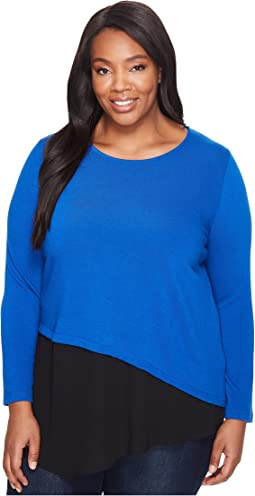 Plus Size Combo Hem Sweater