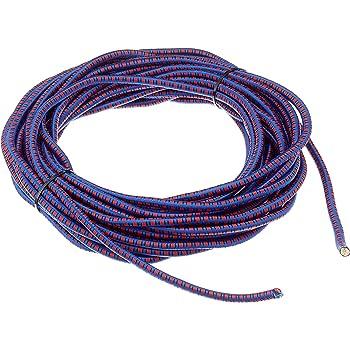 40m corde /élastique c/âble 8mm noir plusieurs tailles et couleurs