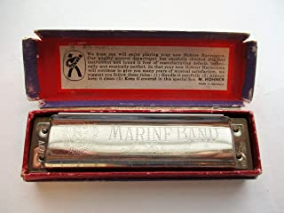 Vintage Marine Band Harmonica M. Hohner Made in Germany NO. 1896