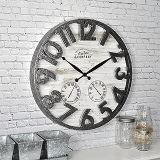 FirsTime & Co. Shiplap Outdoor Wall Clock, 18