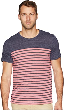 Washed Rose Overdye Riviera Stripe