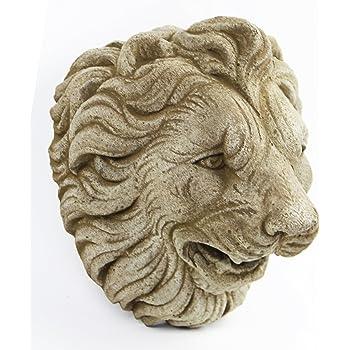 Amazon Com Cast Iron Lion Head Hanging Garden Plaque Garden Outdoor