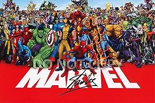 Stan Lee comic book legend reprint signed autographed Marvel superstars 12x18 poster photo #1 RP