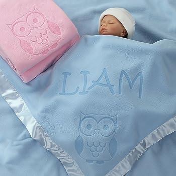 Personalized Embroidery Baby Fleece Blanket with Big Bird